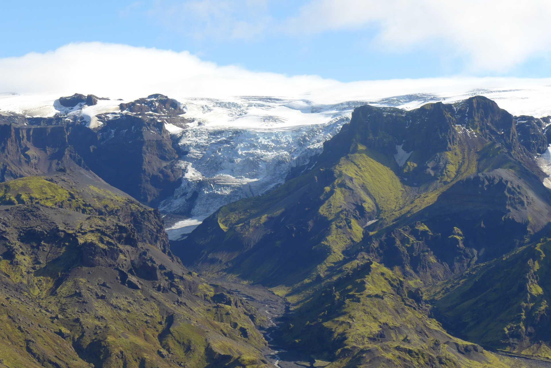 Glacier of Thorsmork in Iceland