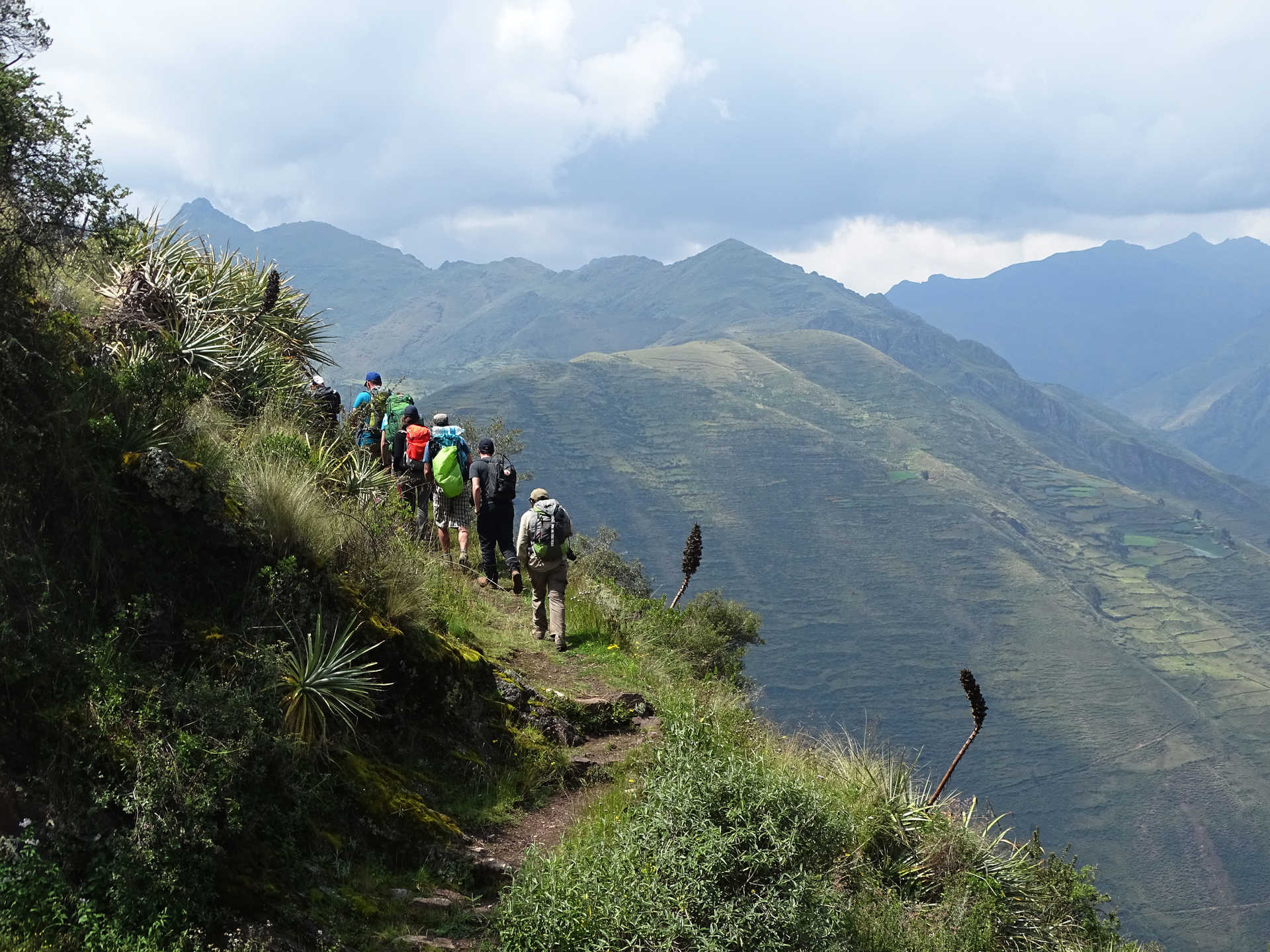 Group of hikers during the Inca Trail