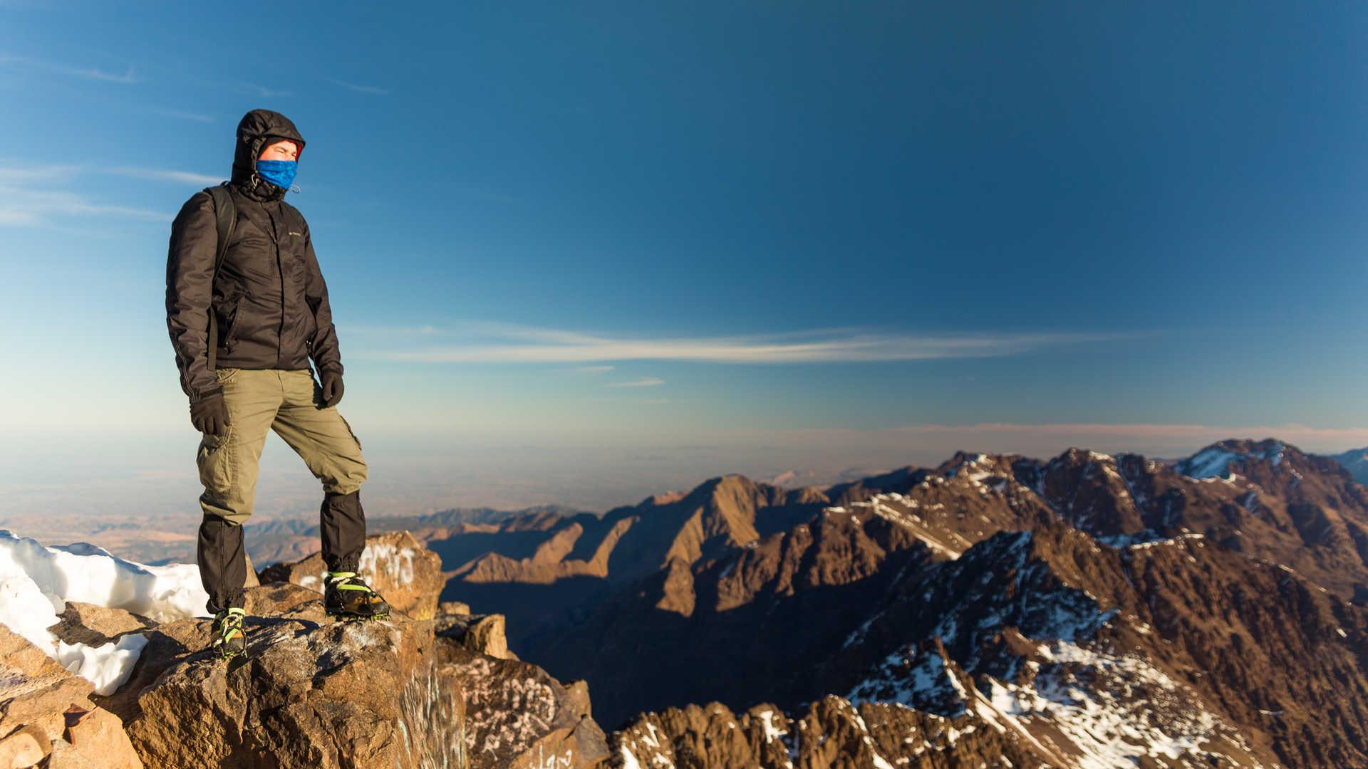 High on Mt Toubkal