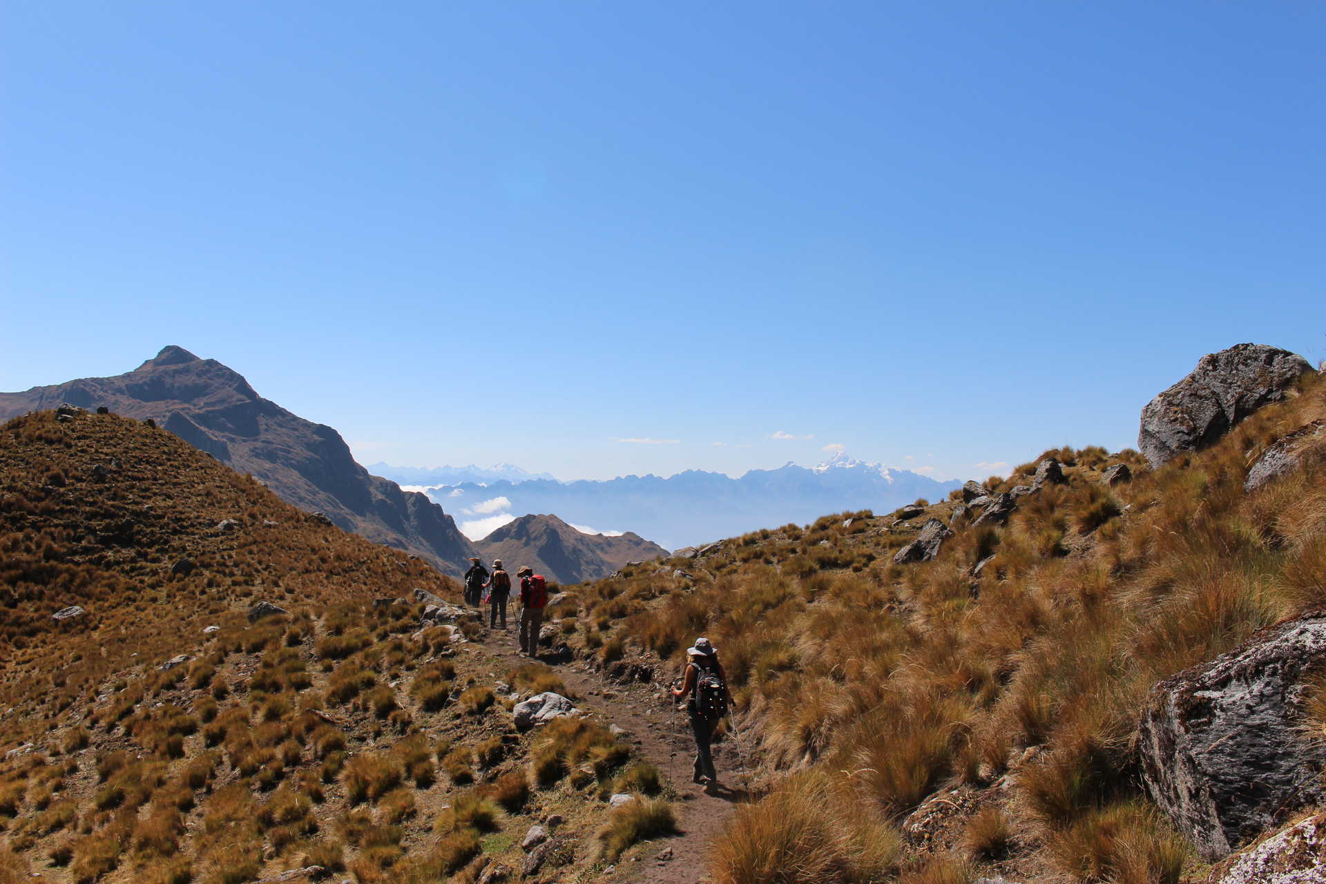 Hikers during the The Vilcamba Trail