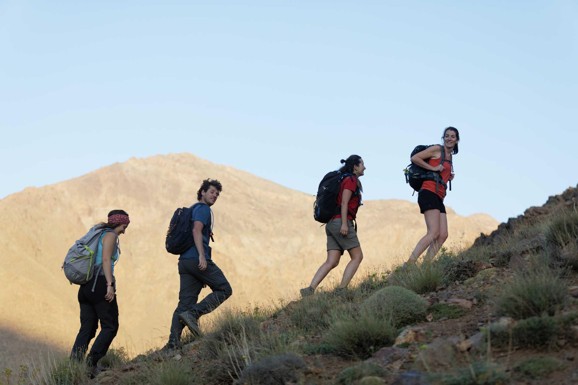 Hikers in High Atlas