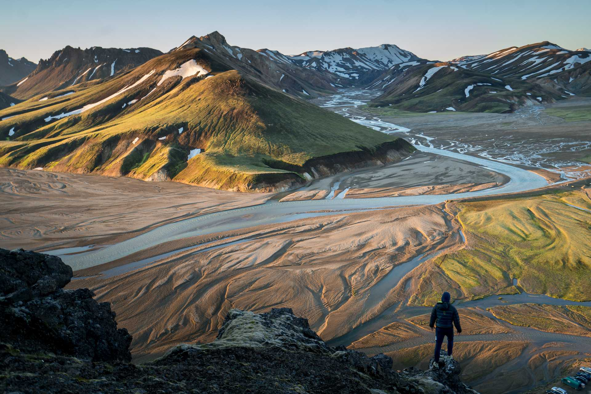 Hikers in Landmannalaugar, Iceland