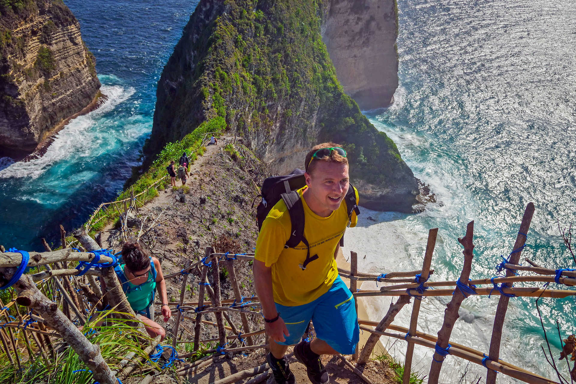 Hikers in Nusa Penida Indonesia