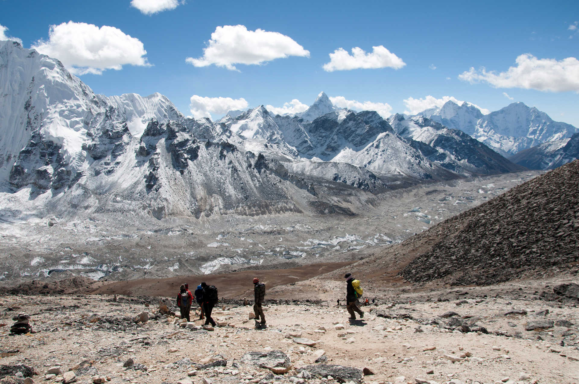 Hikers in the Everest region