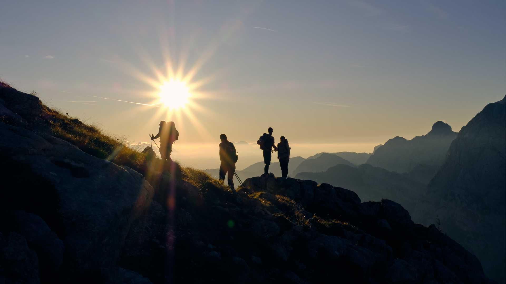 Hikers in the Triglav National Park