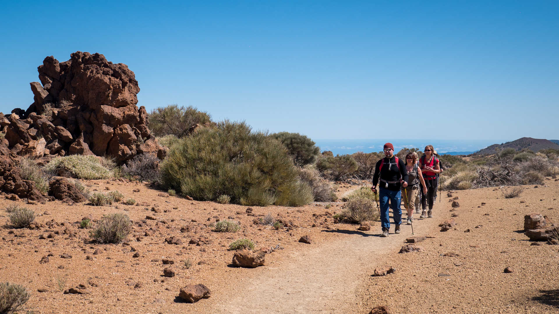 Hiking in the Teide National Park, Tenerife Island