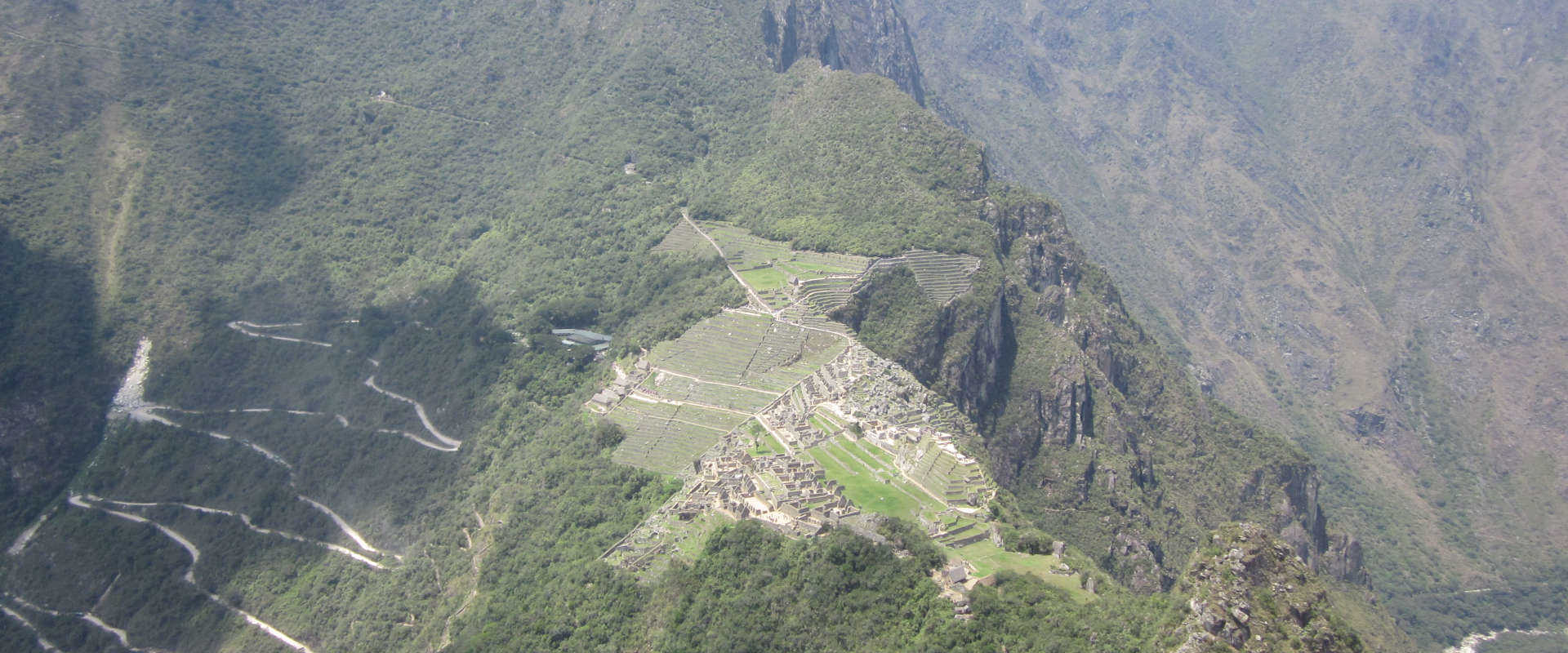 Huayna Picchu from above