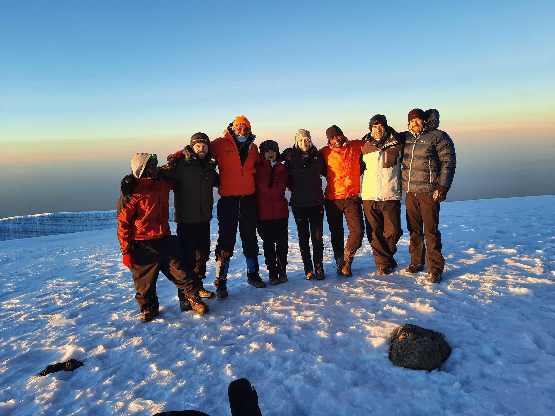 Kandoo Adventures group on the Lemosho Route