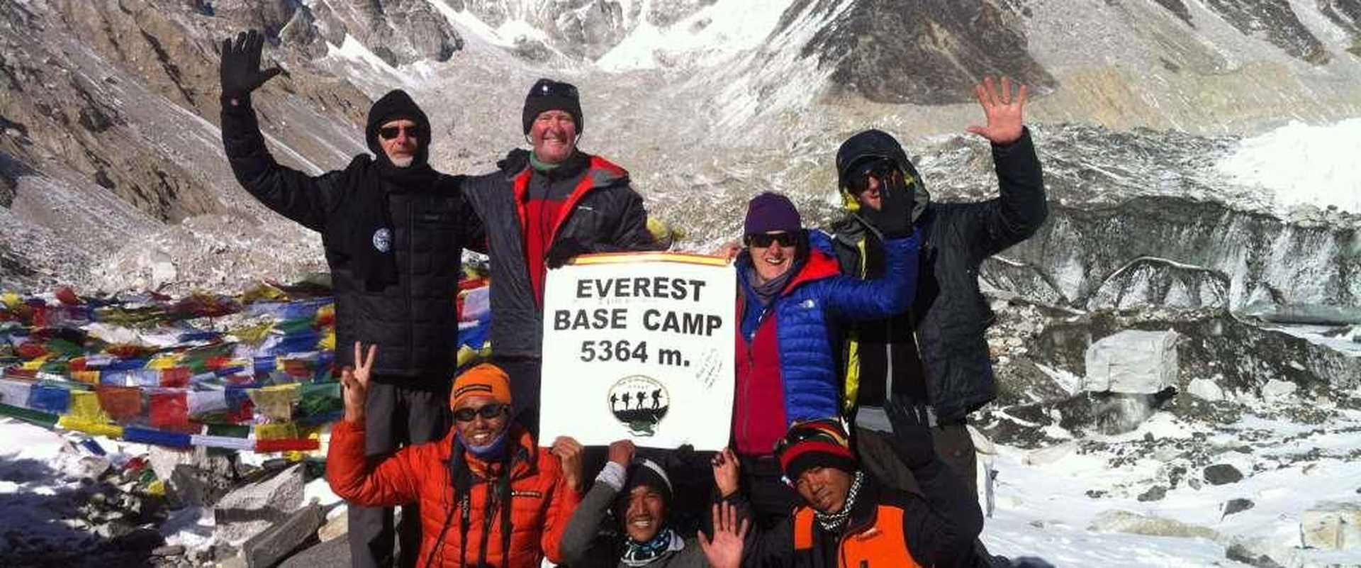 Kandoo's group at Everest Base camp