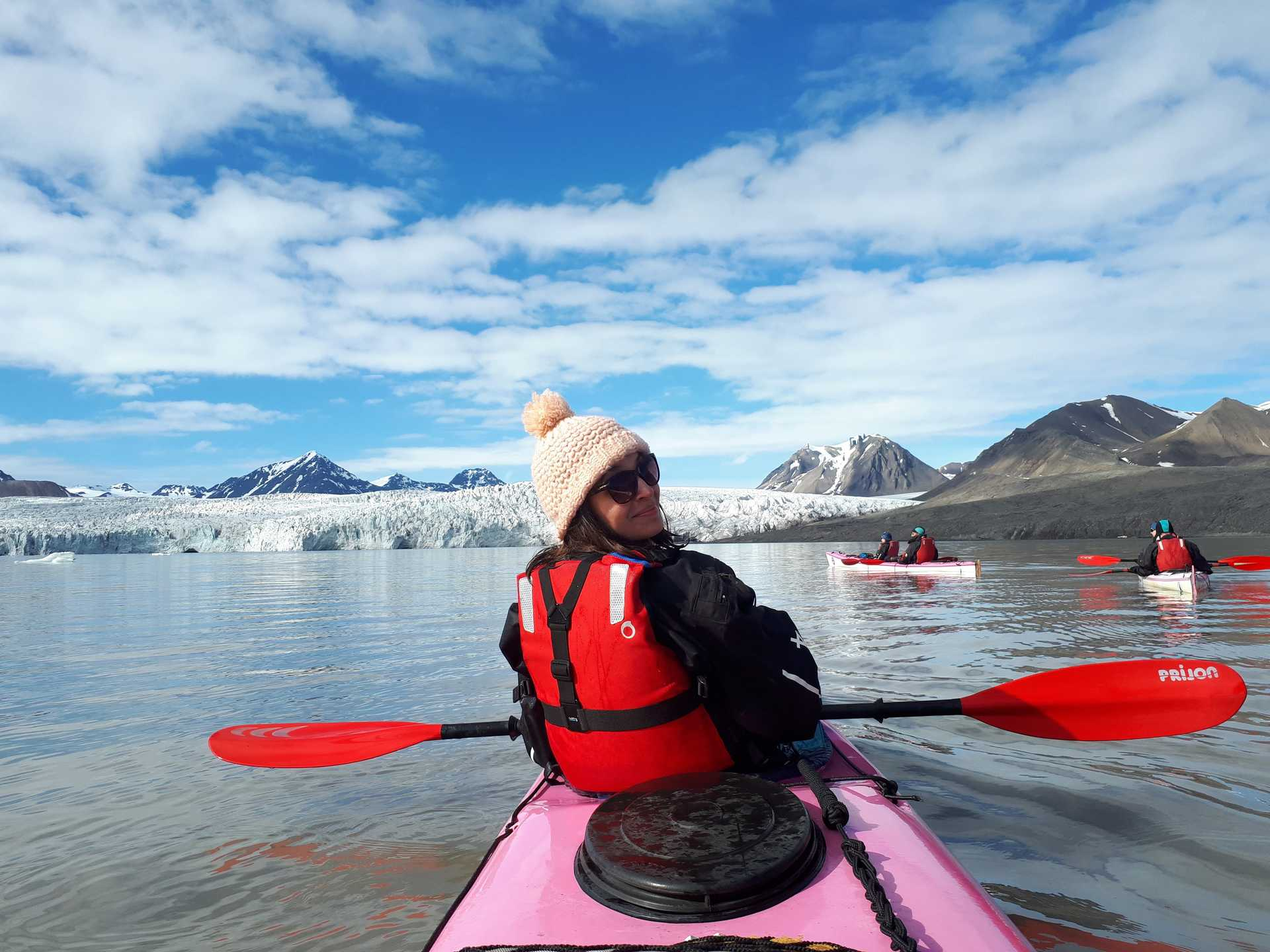Kayak expedition in the Five Glaciers region, Svalbard