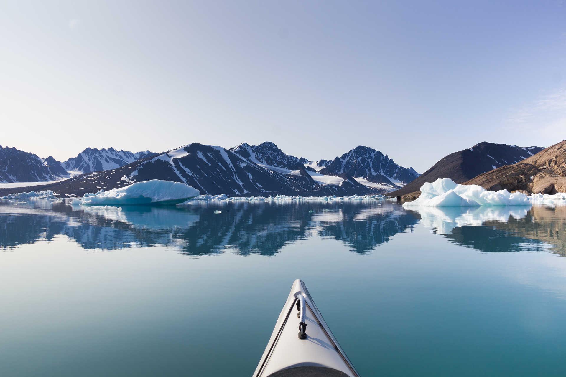 Kayaking in Texas Bar, Svalbard