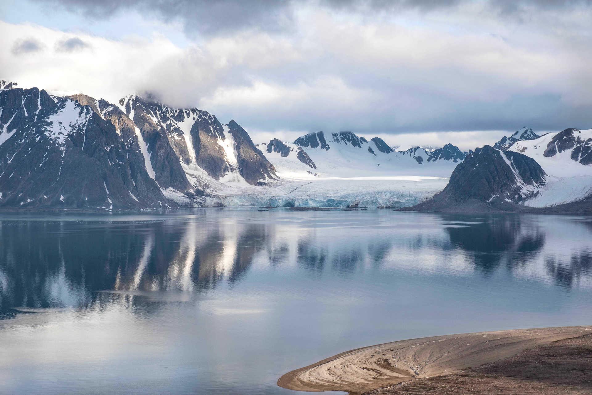 Landscape of the North of Spitsbergen