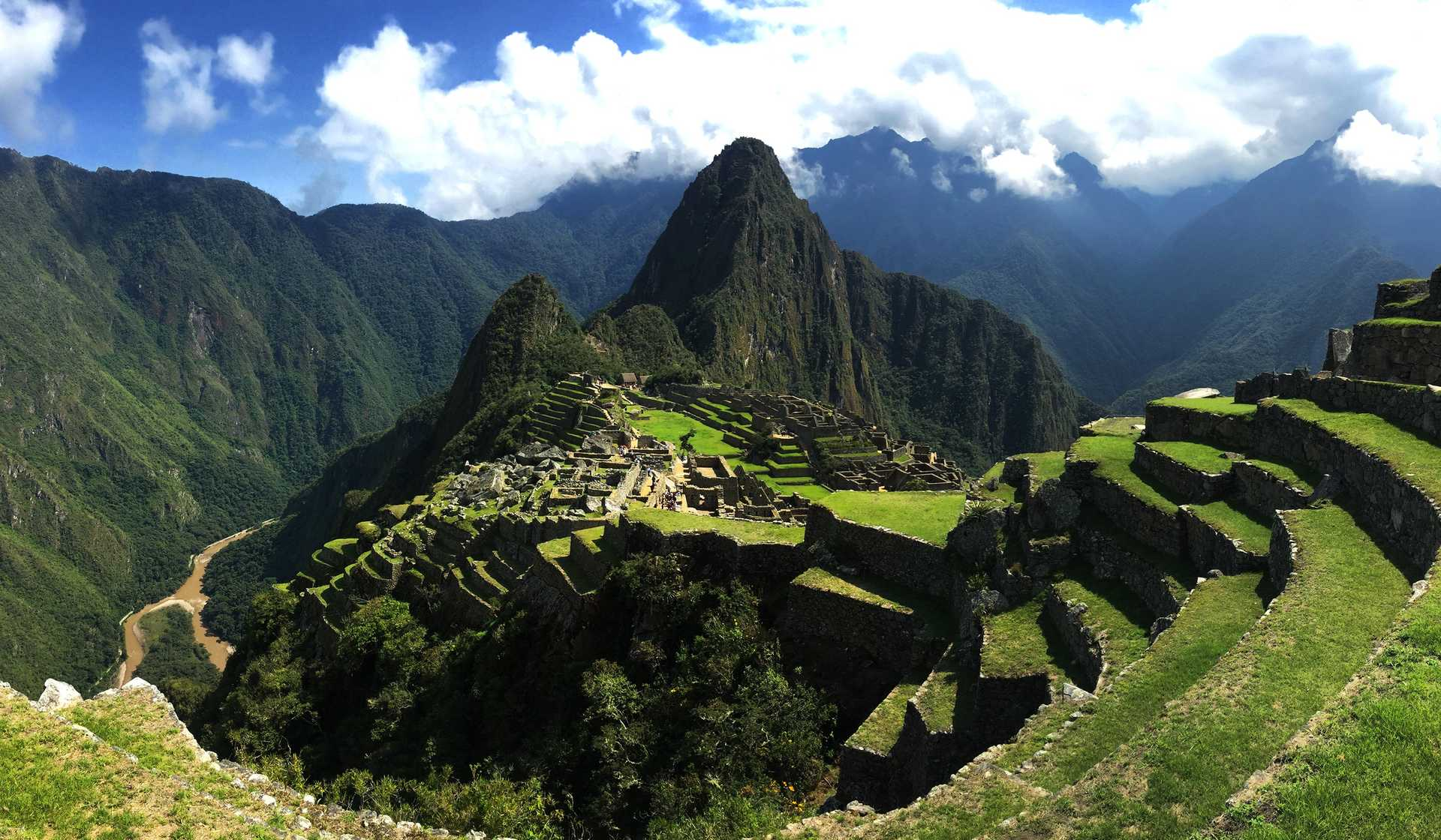 Panoramic view of the Machu Picchu