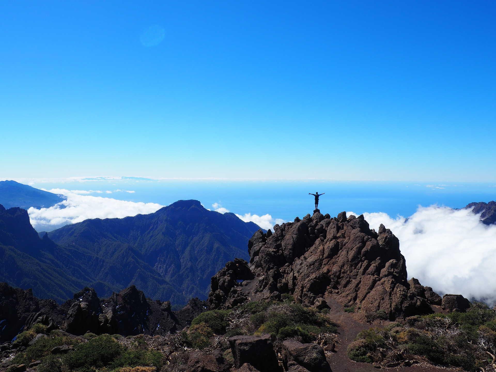 Roque de los muchachos in La Palma