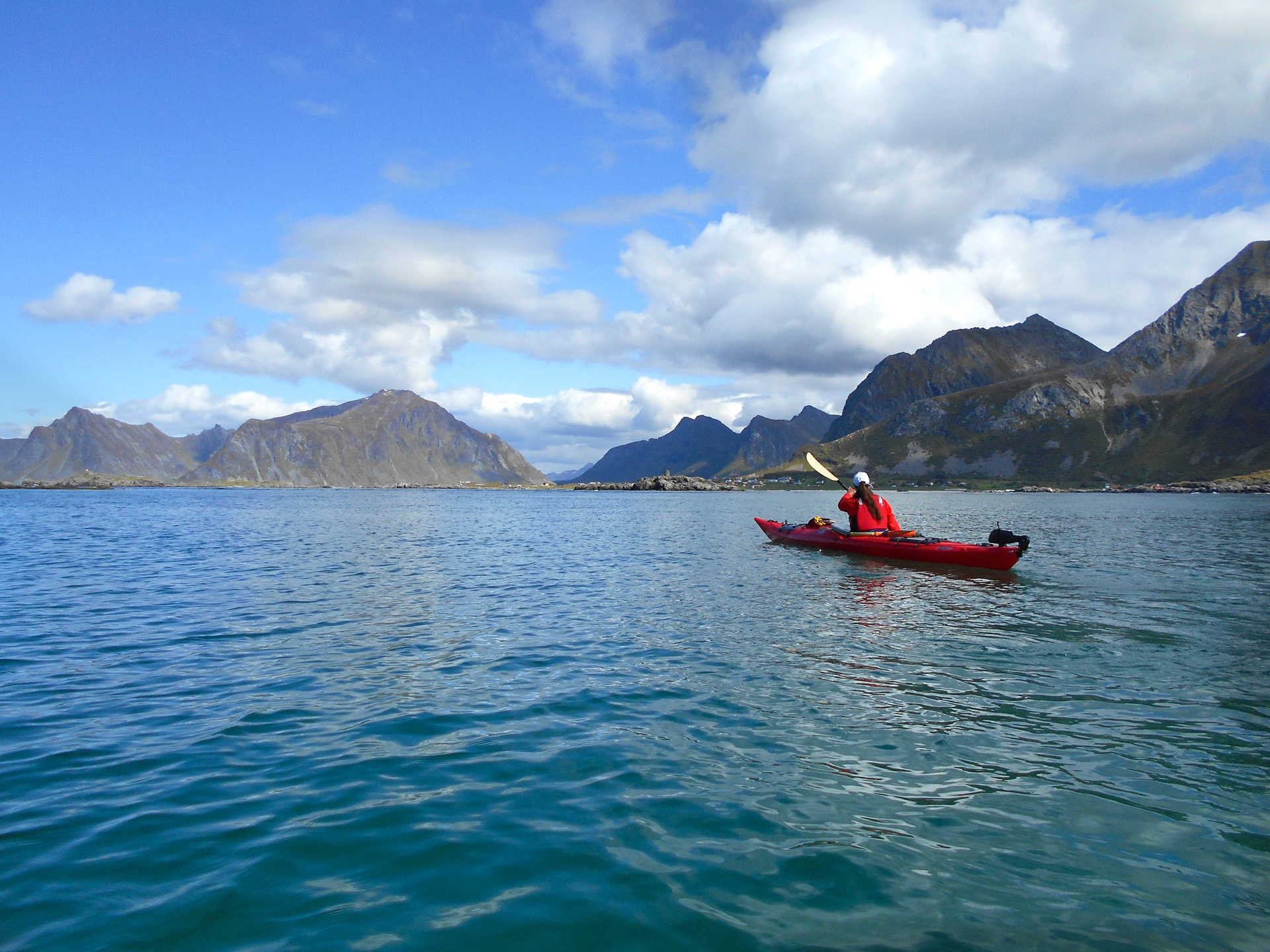 Sea kayaking in Lofoten islands