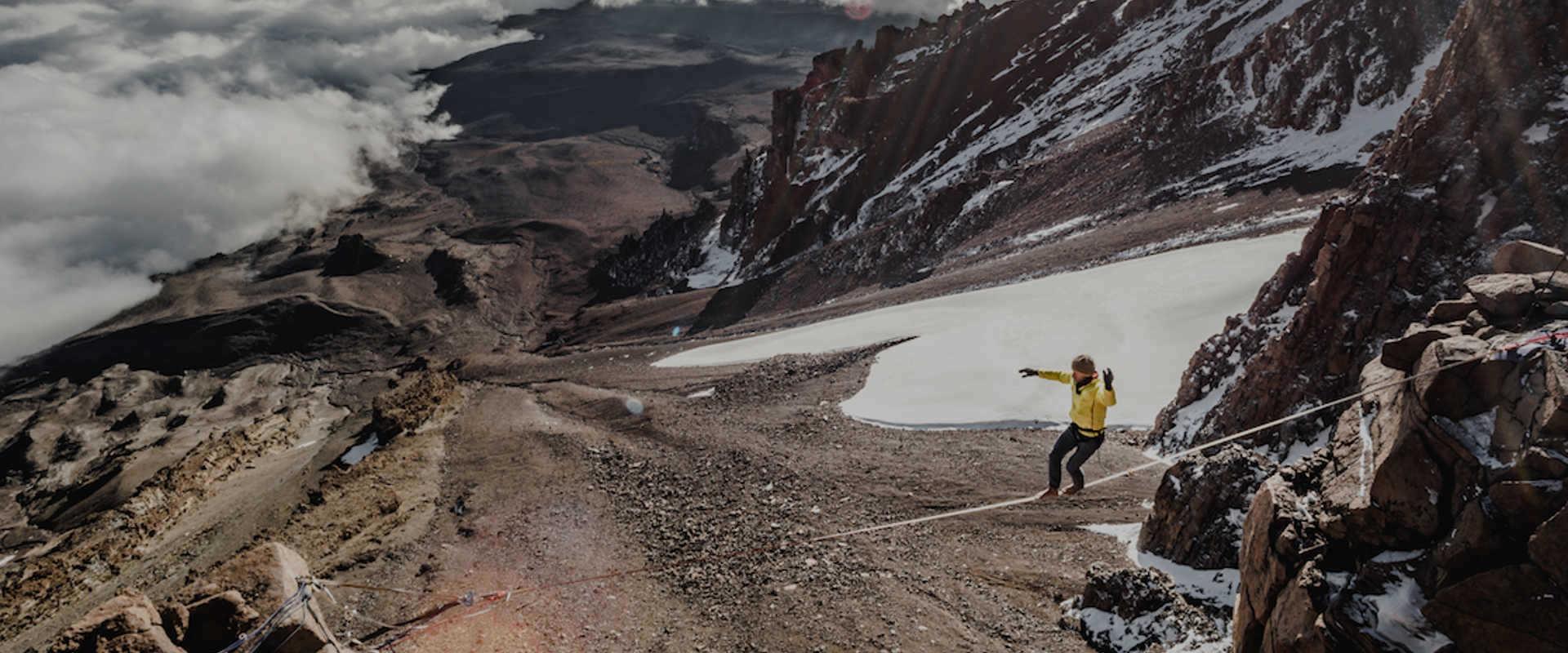 Stephan Siegrist sets new high line record on Mount Kilimanjaro