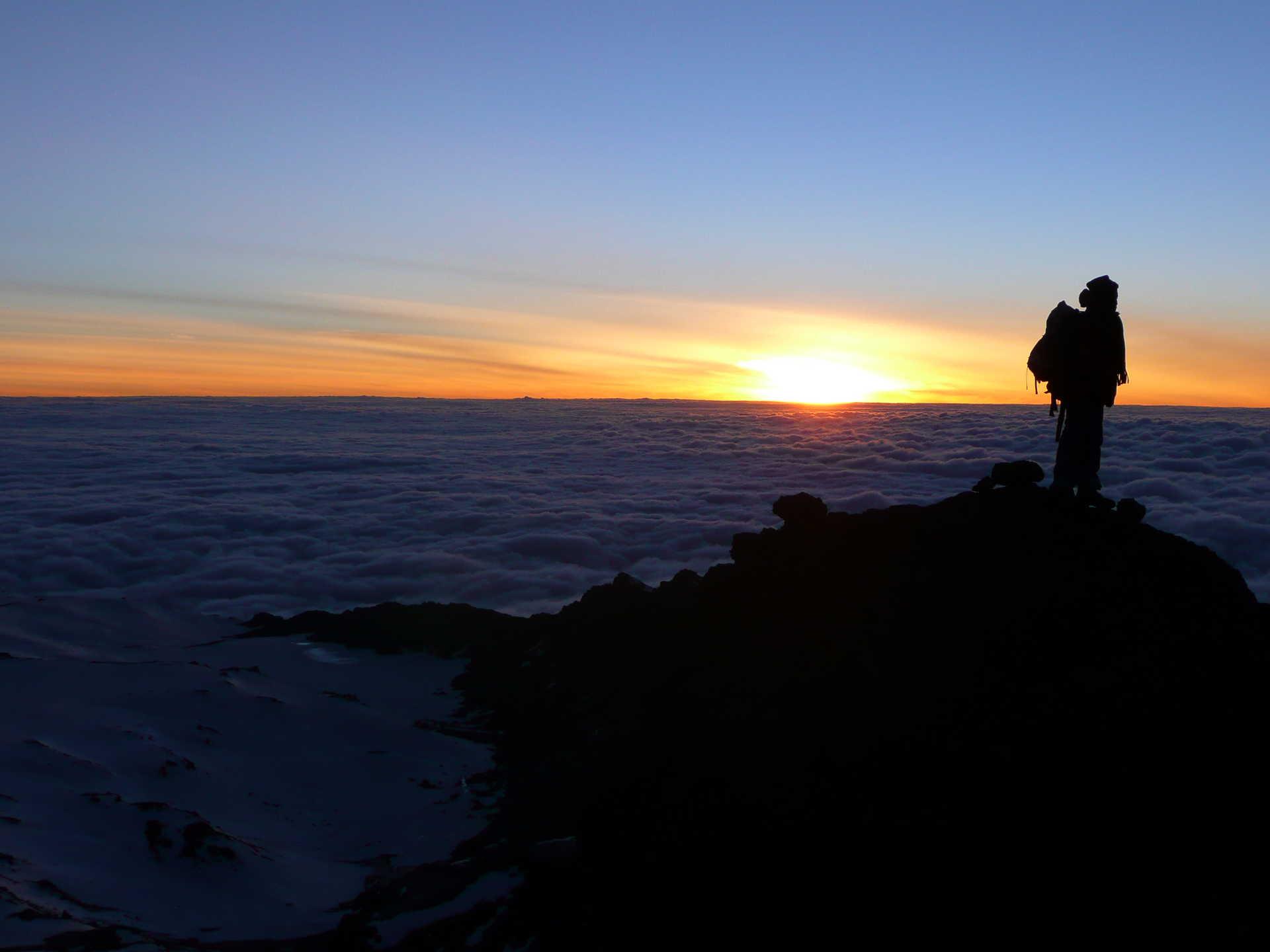 Sunrise during the Mount Kilimanjaro ascent