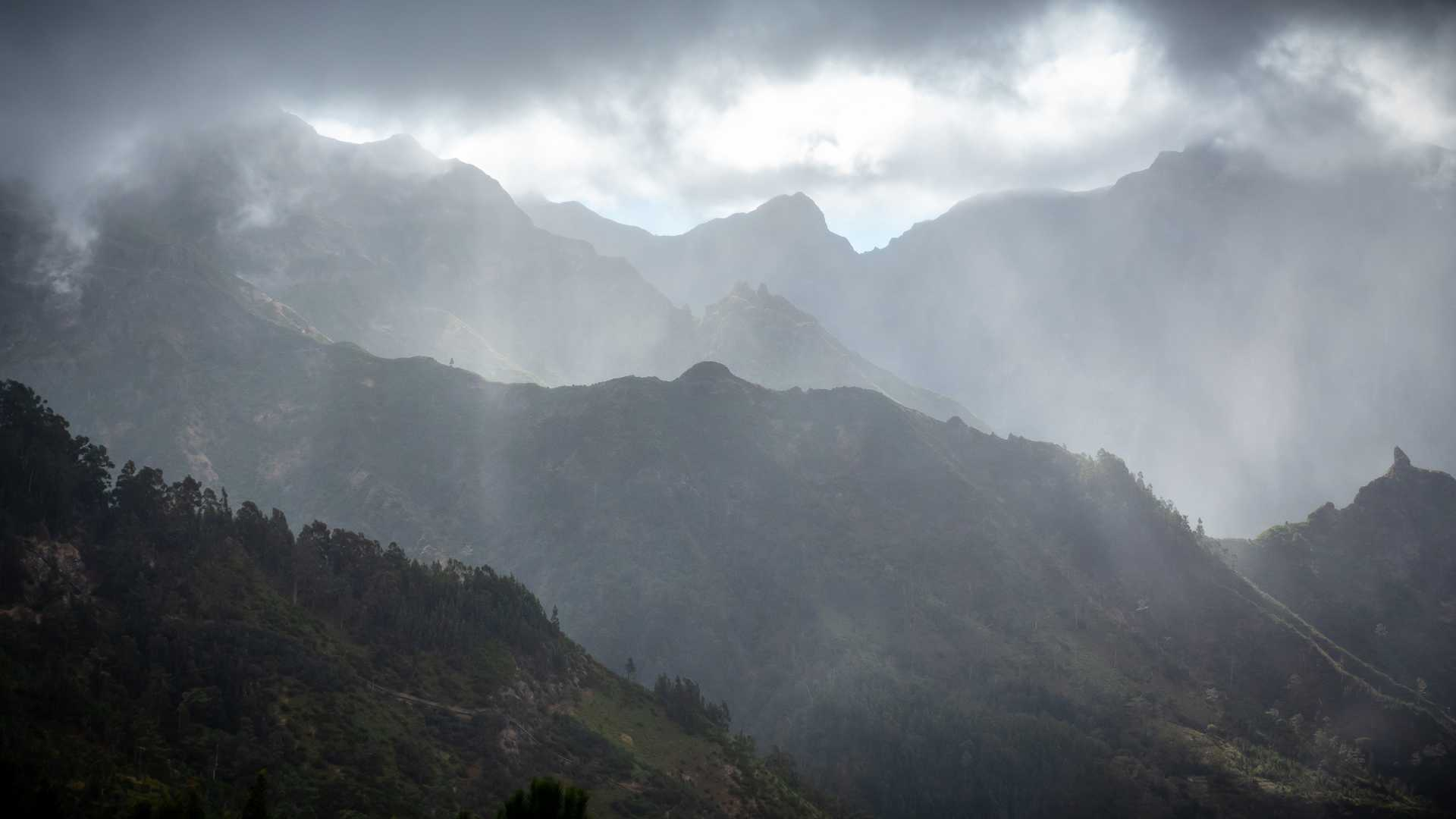 Swirling clouds on Madeira