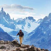Trekker in Patagonia