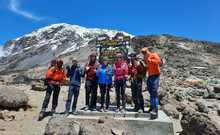 Kandoo guides and climbers on Kilimanjaro