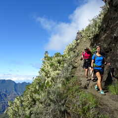 Hikers in la Réunion island