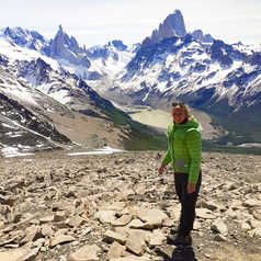 Orianne from our local team in Patagonia