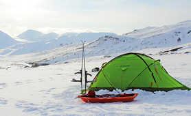 Base camp in Svalbard