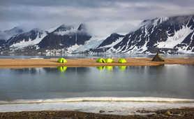 Basecamp in Spitsbergen, Arctic
