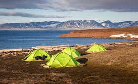 Camp in Arctic, Svalbard