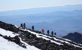 Climbers on Toubkal