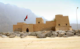 Fortress in the Musandam fjords