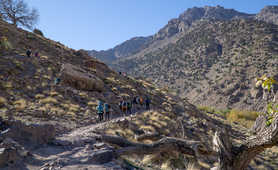 Group of hikers in the High Atlas region