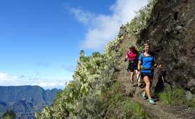 Hikers in la Réunion island