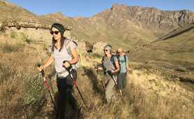 Hikers in the High Atlas, near Toubkal
