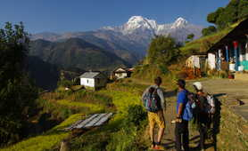 Hiking in the Annapurna balconies