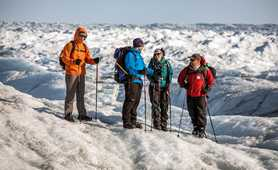 Hiking on Ice Sheet in Greenland