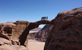 Natural arch in the Wadi Rum desert