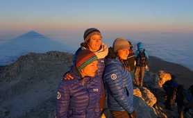 Our local team on the Mount Teide summit