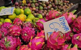 Pitaya fruit in Reunion island