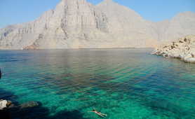Snorkel in the crystal clear waters of the Musandam fjords