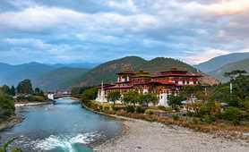Temple in Punakha, Bhutan