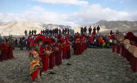 Traditional celebrations in the Mustang District, Nepal