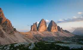 View of Tre Cima di Lavaredo