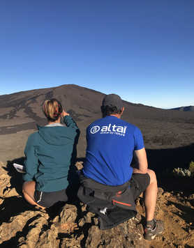 Contemplation in front of the Piton de la Fournaise