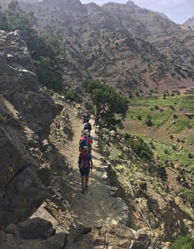 Hikers on their way to Toubkal