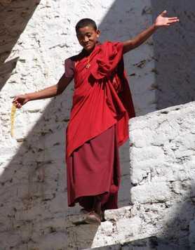 Little monk in Bhutan