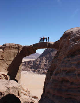 Natural arch in the Wadi Rum desert