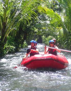 Rafting in the Telega Waja river, Bali