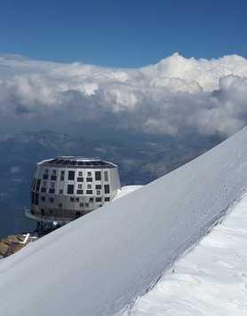 Refuge du Goûter in the Mont Blanc massif