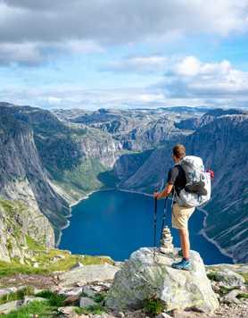 Trekker in South Norway